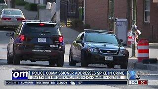 Police commissioner addresses spike in crime