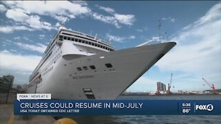 CDC tells cruise lines that ships could depart ports in July, reports say
