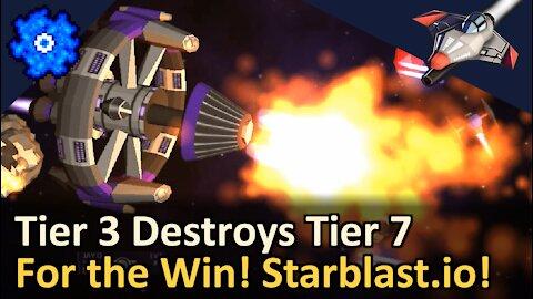 Epic Spaceship Battle! Tier 3 Vs Tier 7 Odyssey! Starblast