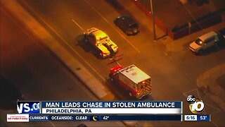 Man leads chase in stolen ambulance