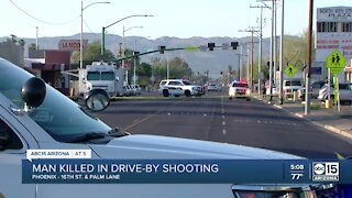 PD: Man dies following drive-by shooting near 16th Street and McDowell