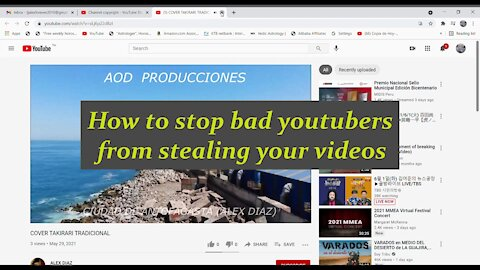 Bad Youtubers Two ways to stop them from stealing your videos
