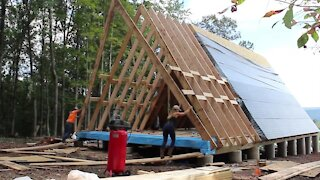 Framing Our A-Frame Home | Building Our Own Home