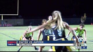 Jupiter defeats Dwyer flag football 4/23