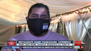 Restaurants share thanksgiving experience