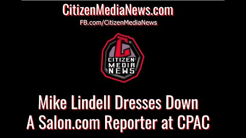 Lindell Dresses Down Reporter