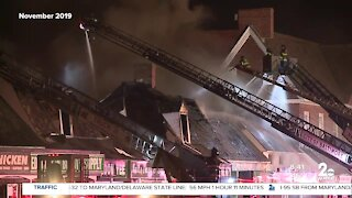 Fire destroys shopping center this weekend