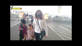 Tahira Kashyap Spotted with her Kids at the Airport | SpotboyE