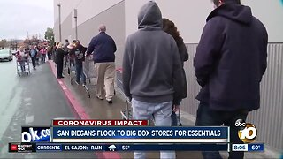 San Diegans flock to big box stores for essentials amid COVID-19 outbreak
