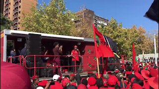 SOUTH AFRICA - Johannesburg - EFF women's march at Constititional Court (videos) (m4Q)