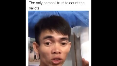 He needs to count the ballots
