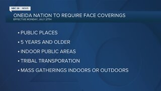 Oneida Nation issues face covering mandate