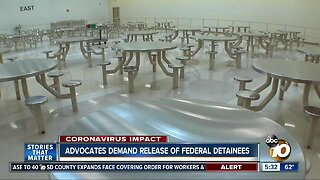Advocates demand the release of some federal detainees