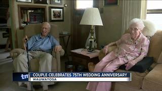 Wauwatosa couple celebrates 75th wedding anniversary