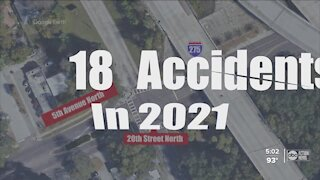 18 crashes this year at just one St. Pete intersection, locals demand changes