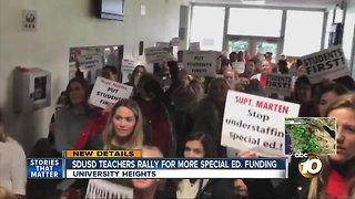 SDUSD teachers pressure district for more special education resources