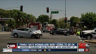 Pregnant woman has her leg amputated following car crash