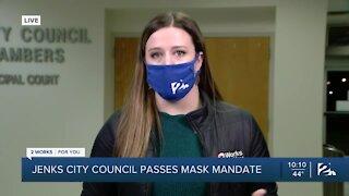 Jenks City Council passes mask mandate