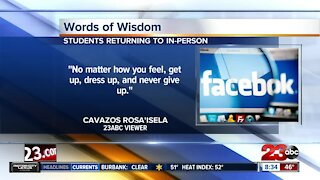 Words of wisdom for students returning to school and sports