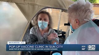 Pop-up COVID-19 vaccination clinic opens in Sun City