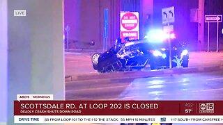 Deadly crash shuts down Scottsdale Road