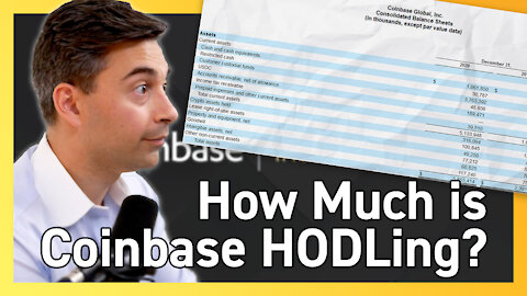 Coinbase Is HODLing 6,840 BTC as Investment?! - $COIN Stock