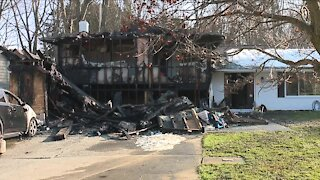 Overnight blaze destroys foster family's North Olmsted home
