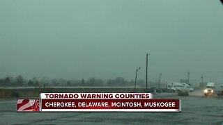 Heavy rain and lightning in Muskogee