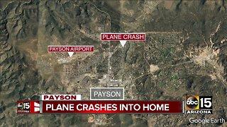 Small plane crashes into Payson home