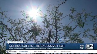 Staying safe in the excessive heat
