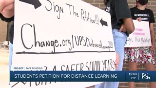 Students petition for distance learning