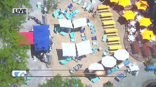 First Friday beach party at Campus Martius