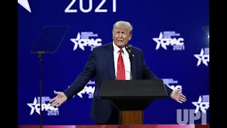 President Donald Trump at CPAC 2021