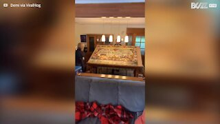 Woman sees her 9000-piece puzzle destroyed