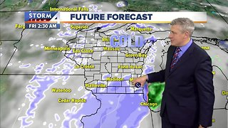Decreasing clouds and chilly Wednesday night