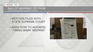 Ballot misprint petition