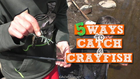 S2:E12 5 Ways to Catch a Crayfish | Kids Outdoors