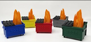 Man in L.A. sells dumpster-fire Christmas ornaments