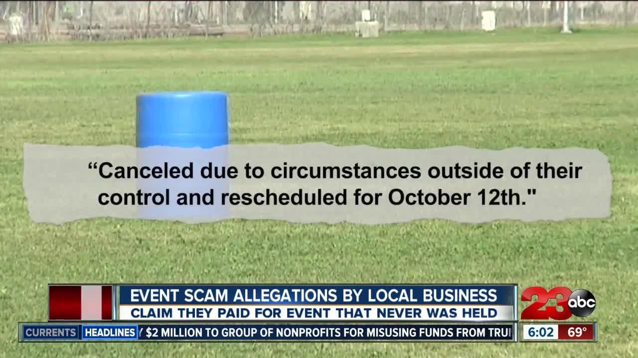 Event Scam Allegations By Local Business