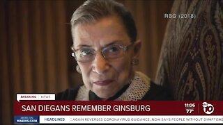 San Diegans remember Ginsburg
