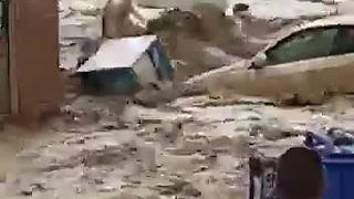 Insane massive flood decimates Spanish town