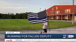 12-year-old boy runs 960th mile for fallen Kern County Sheriff Deputy