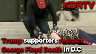 BREAKING: Trump supporters re-enacted the death of George Floyd