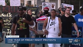 Dozens gather on anniversary of KC police brutality protests