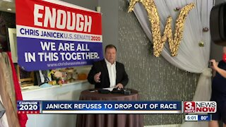 Janicek refuses to drop out of race