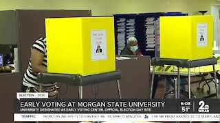 Early voting at Morgan State University