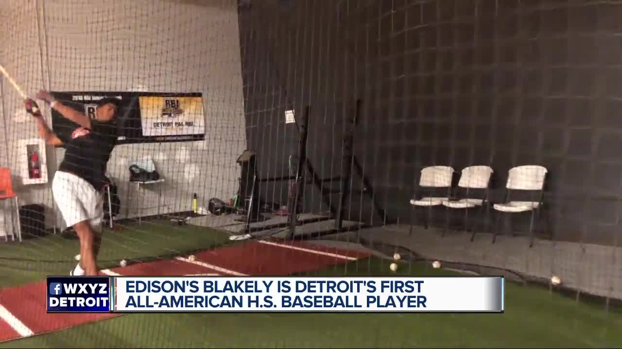 Edison's Blakely is Detroit's first All American H.S. Baseball Player.