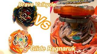 Glide Ragnaruk vs Brave Valkyrie| Stamina vs Attack Beyblade