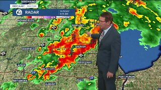 Strong morning storms