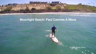Moonlight Beach: Paul Catches A Wave